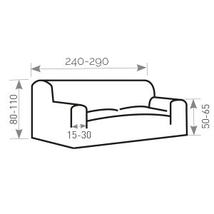 Afbeelding bank 240 cm tot 290 cm breed