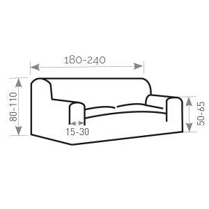 Afbeelding bank 180 cm tot 240 cm breed